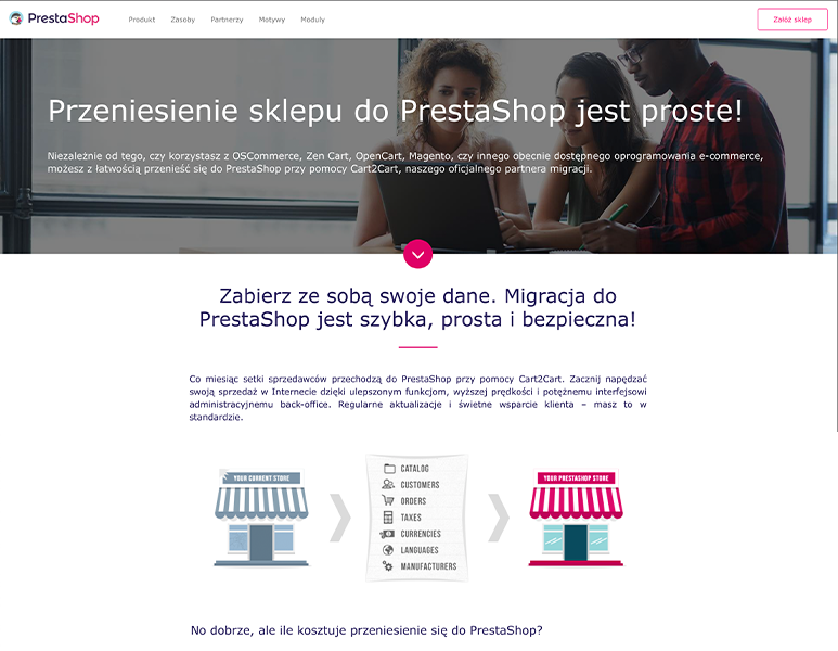 Wdrożenia sklepu PrestaShop